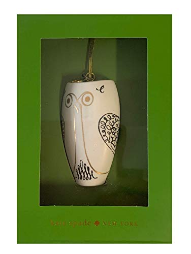 Kate Spade New York Woodland Park Tall Owl 3″ Ornament