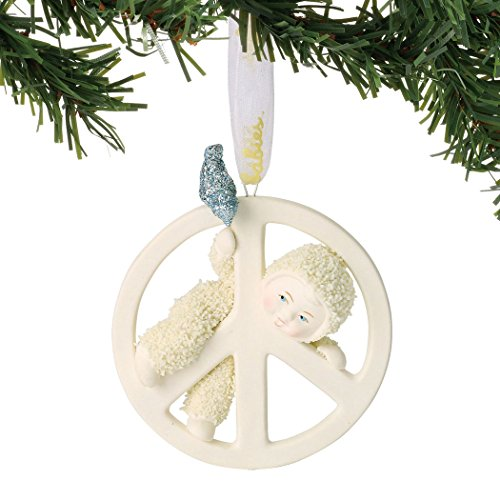 "Department 56 Snowbabies Peace Collection ""Peace Baby"" Porcelain Hanging Ornament, 2.75"""