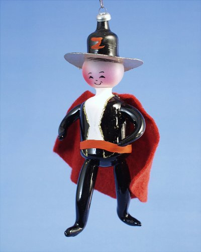 De Carlini Vintage Zorro Italian Mouthblown Christmas Ornament