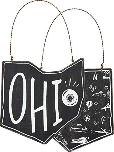 Primitives by Kathy Ohio Ornament Small Hanging Sign