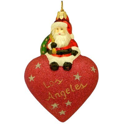 Landmark Creations from Santa with Love Los Angeles European Glass Ornament