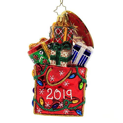 Christopher Radko 2019 Goodie Bag Christmas Ornament