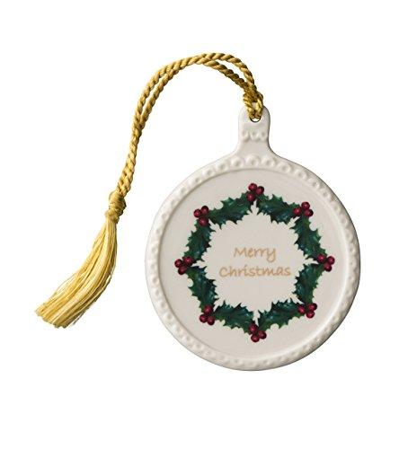 Belleek Merry Christmas Ornament