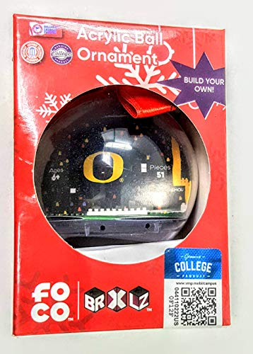 Forever Collectibles Acrylic Ball Ornament of University of Oregon Football Symbol