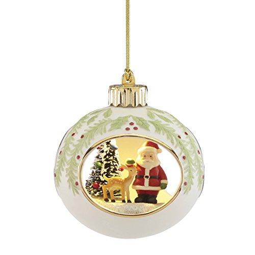 Lenox Lit Santa Scene Ornament