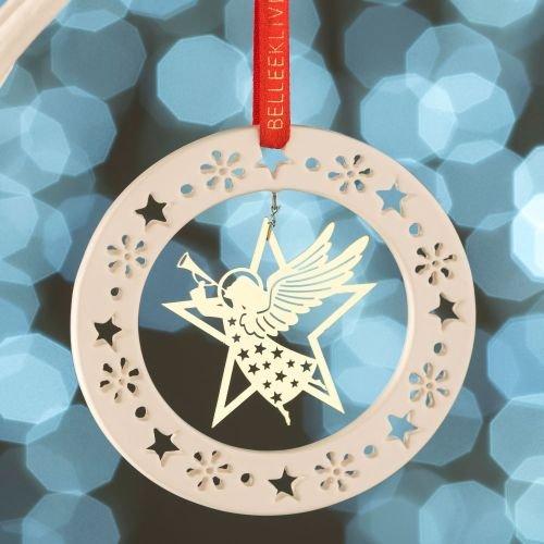 Belleek Gold Angel Ornament