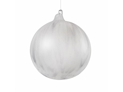 Jim Marvin 4.7″ Grey Frosted Agate Ball Christmas Ornament