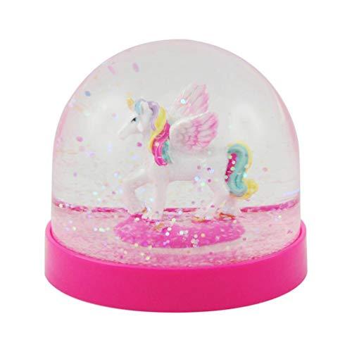 Pink Poppy Unicorn Acrylic Snow GLobe