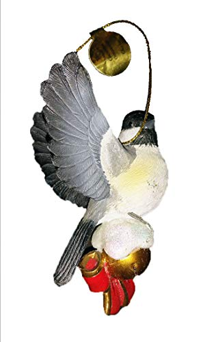 Danbury Mint The Songbird Crhstmas Ornaments, Chickadee, 3 inches high