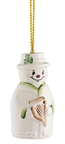 Belleek Snowman Bell Ornament