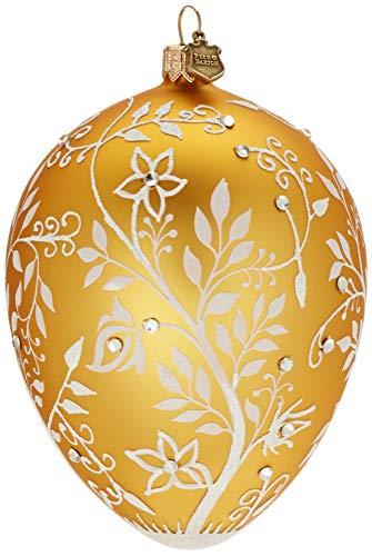 Reed & Barton Amber Mistletoe Egg Ornament