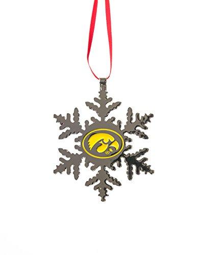 Collegiate Pulse Iowa Hawkeyes NCAA Snowflake Christmas Ornament