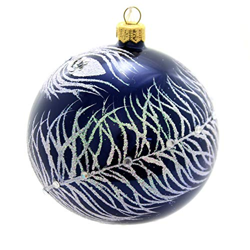 Christina's World Crystals & Feathers Glass Christmas Ornament Sno308