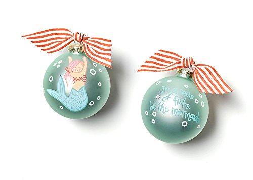 Coton Colors Mermaid Glass Ornament