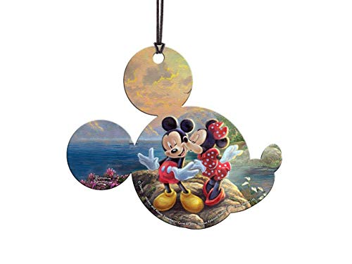 Trend Setters Disney – Mickey and Minnie Sweetheart Cove – Thomas Kinkade – Mickey Shaped Hanging Acrylic Decoration