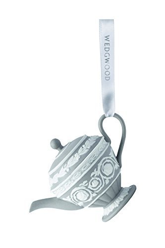 Wedgwood Iconic Teapot Christmas Ornament, Grey by Wedgwood