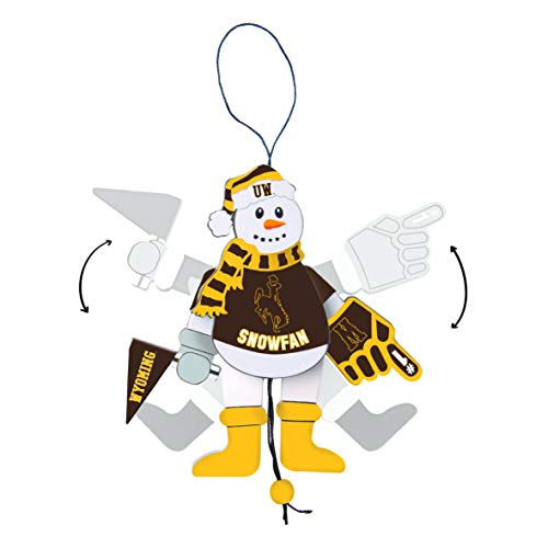 Topperscot Wyoming Cowboys Official NCAA Holiday Christmas Snowman Ornament 517278