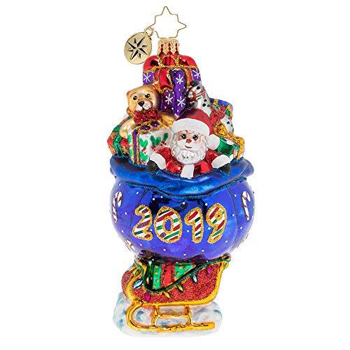 Christopher Radko 2019 Sleigh Christmas Ornament, Multicolor