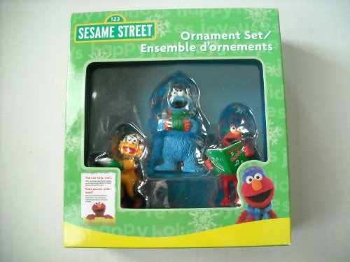 Carlton Heirloom Sesame Street Ornament Set 3 Piece