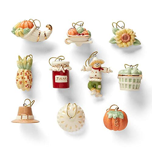 Lenox Ornament Tree – Set of Ornaments (Tree Sold Separately) – Autumn Favorites