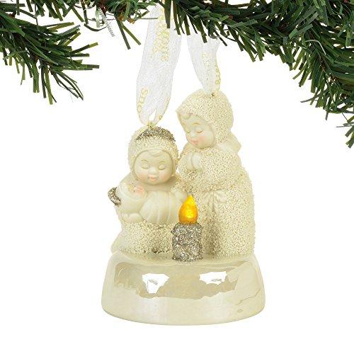 """Department 56 Snowbabies """"Light The Way"""" Porcelain Ornament, 3.62"""""""