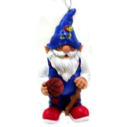 Kansas Jayhawks NCAA Gnome Christmas Ornament