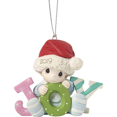 Precious Moments Baby's First Christmas 2019 Dated Bisque Porcelain Boy 191006 Ornament One Size Multi