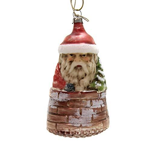 Marolin Santa in Chimney Glass Ornament Feather Tree 2011213