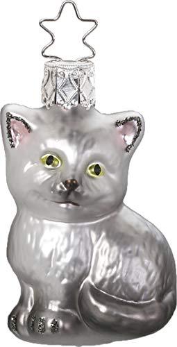 Inge-Glas Carlo The Cat 10010S019 German Glass Christmas Ornament