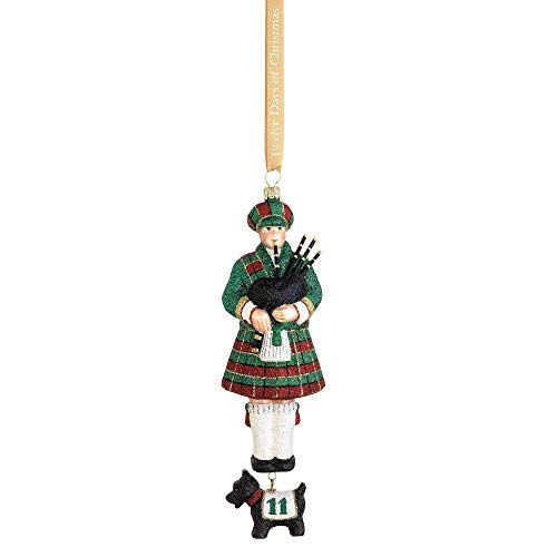 Reed & Barton 12 Days of Christmas 11 Pipers Piping Ornament