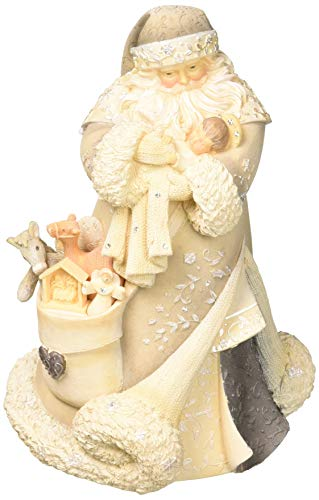 Enesco Foundations 6001153 Santa With Baby Jesus Figurine, 7.68″, Multicolor
