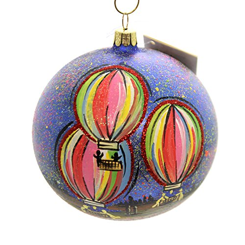 Christina's World UP and Away Ball Ornament Glass Hot Air Balloon Art274