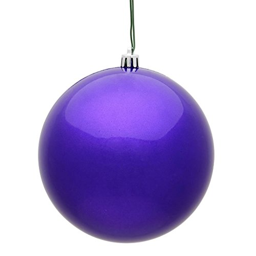 Vickerman 487396 – 10″ Purple Candy Ball Christmas Tree Ornament (N592566DCV)