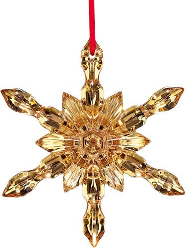 Baccarat Crystal Noel 20K Gold Snowflake Ornament