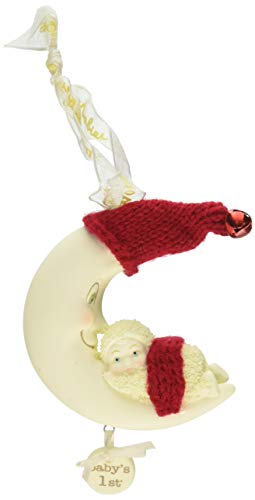 "Department 56 Snowbabies ""Swinging On a Star, Baby's 1st"" Porcelain Hanging Ornament, 1"""