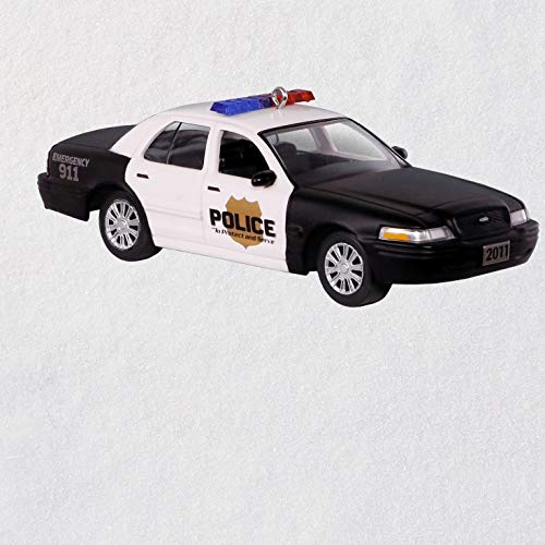 Hallmark Keepsake Christmas Ornament 2018 Year Dated, 2011 Ford Crown Victoria Police Interceptor, Metal Car