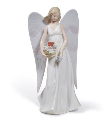 Lladro Porcelain Angelic Stars Tree Topper Ornament