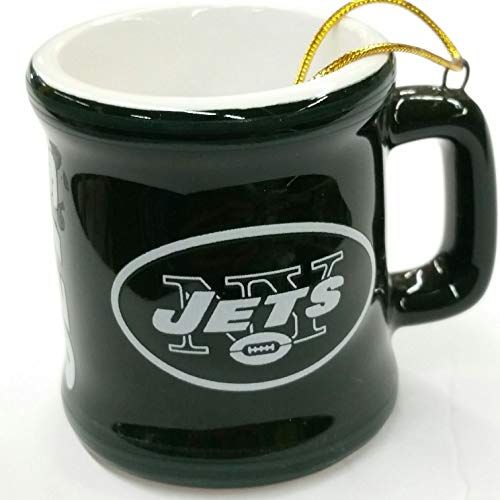 Topperscot NFL York Jets Mini Mug Ornament