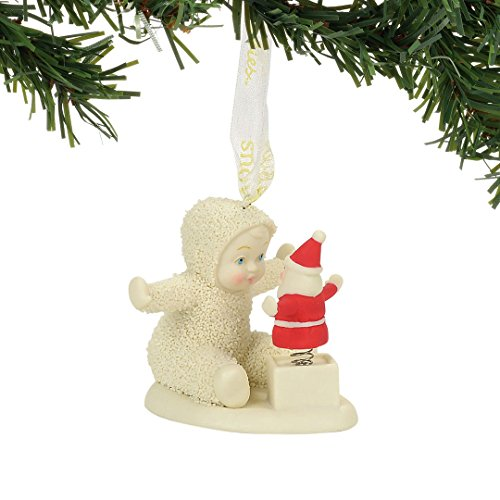 Department 56 Snowbabies Santa in a Box Porcelain Ornament, 2.2""