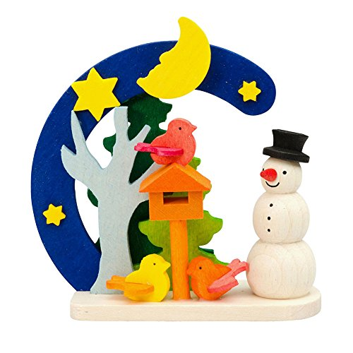 Alexander Taron 4416 Graupner Ornament – Snowman Birdhouse – 3″ H x 2.75″ W x 1.25″ D Brown