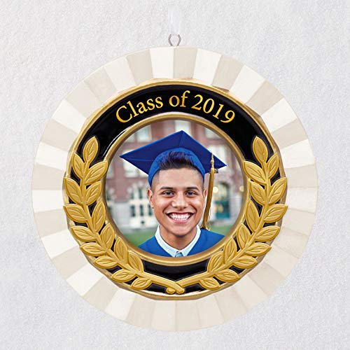 Hallmark Keepsake 2019 Year Dated Graduation Porcelain and Metal Photo Frame Ornament, Congrats, Grad!, 2018