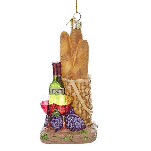 Kurt Adler Kurt S. Adler Noble Gems Bread and Wine Glass Ornament