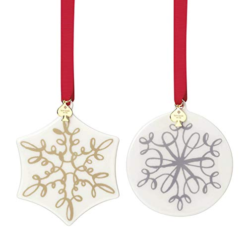 Kate Spade New York Jingle All The Way Christmas Ornaments (Set of 2)