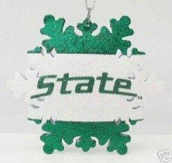Michigan State Spartans Snowflake Ornament