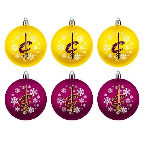Topperscot Cleveland Cavaliers Official NBA Holiday Christmas 6 Pack Shatterproof Ornament 769004