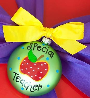Coton Colors Special Teacher * Glass Holiday Gift PO-SPECTEACH-NOMSG