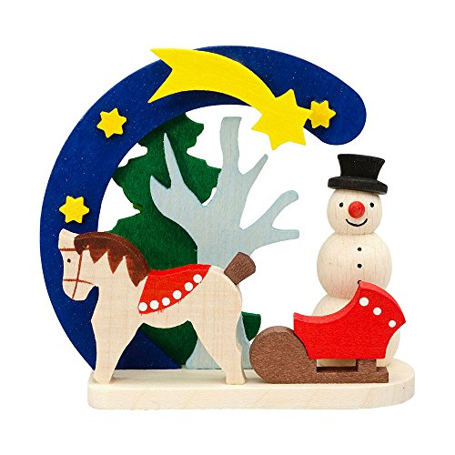 Alexander Taron 4415 Graupner Ornament-Snowman with Horse H x 2.75″ W x 1.25″ D, Brown