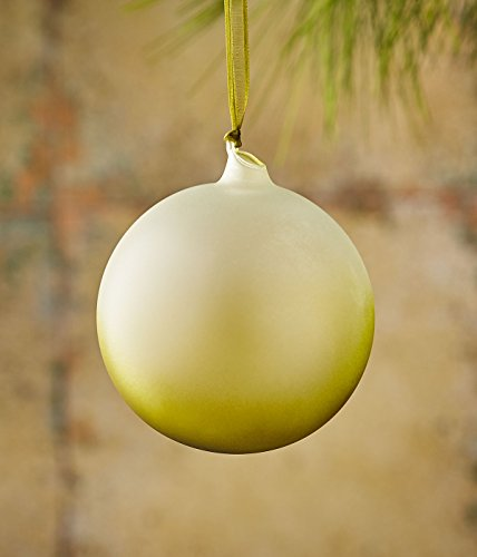 Neiman Marcus by Jim Marvin Frosted Ball Ornament, Green
