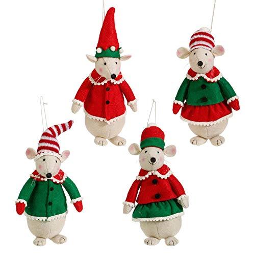 RAZ Imports 8″ Mice Ornaments
