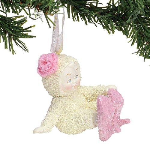 """Department 56 Snowbabies """"New Shoes"""" Porcelain Hanging Ornament, 2.5"""""""